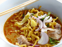 Northern Thai Noodle Curry Soup Royalty Free Stock Images
