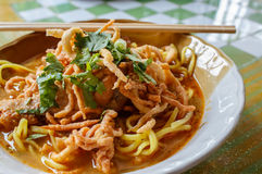Northern Thai Noodle Curry Soup - Khao Soi Royalty Free Stock Images