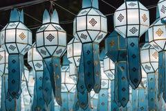 Northern Thai Style Lanterns at Loi Krathong Royalty Free Stock Photos