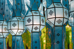 Northern Thai Style Lanterns at Loi Krathong Royalty Free Stock Photo