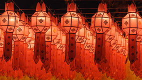 Northern Thai Style Lanterns at Loi Krathong Stock Photography