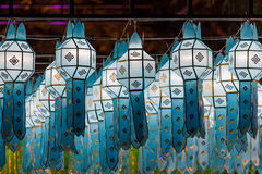 Northern Thai Style Lanterns at Loy Krathong Festival Stock Image
