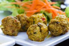 Northern thai style spicy pork ball Royalty Free Stock Photos