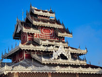 Northern thai temple, Wat Phra That Doi Kong Mu Royalty Free Stock Photography