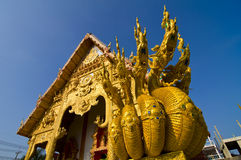Northern thailand golden temple Royalty Free Stock Image