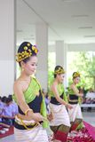 Northern Thailand local performance in Songkran Stock Photo