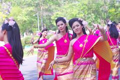Northern Thailand local performance in Songkran Stock Images