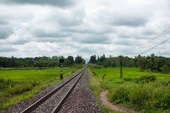 Northern Thailand Railway. This way between Hang Chat District to Doi Khun Tan royalty free stock photos