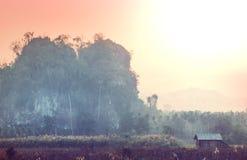 Northern Thailand. Rural landscapes in Northern Thailand stock photo