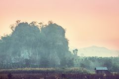 Northern Thailand. Rural landscapes in Northern Thailand royalty free stock photo