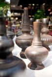 Northern Thailand style earthenwares. Group of northern Thailand style earthenwares use for contain water Royalty Free Stock Photo