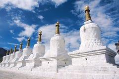 Northern Tibet Eight Stupa Stock Image