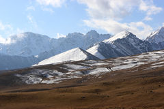 The northern Tien Shan. Kyrgyz ridge of Tien Shan mountains, Kyrgyzstan (Bishkek - Osh road royalty free stock photography