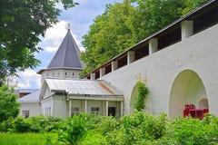 Northern tower in Savvino-Storozhevsky man's monastery in Zvenigorod, Russia Royalty Free Stock Photos