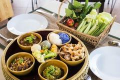 Northern traditional Thai food set Stock Photo