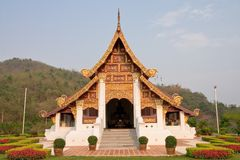 Northern traditional Thai style architecture Royalty Free Stock Photos