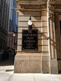 The Northern Trust Company Chicago. Sign on the exterior of the Northern Trust Company building in the financial center of Chicago Illinois royalty free stock photography