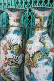 NORTHERN VIETNAM - JANUARY 10, 2009: Business alongside Highway 18, wholesale trading in traditional ceramic vases. royalty free stock photos