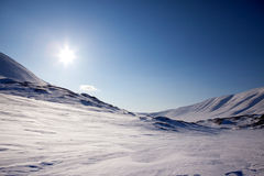 Northern Winter Landsacpe. A beautiful barren winter landscape in the mountains Stock Photo