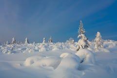 Northern Winter Landscape - beautiful Polar nature Stock Photo
