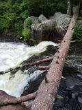 Northern Wisconsin Waterfall in Summer Royalty Free Stock Photos