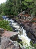 Northern Wisconsin Waterfall in Summer Stock Photography