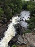 Northern Wisconsin Waterfall in Summer. A northern Wisconsin waterfall flowing in the summer royalty free stock image
