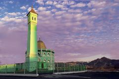 The northernmost mosque in the world Nurd Kamal in Norilsk. The northernmost mosque in the world Nurd Kamal Stock Photos