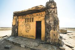 Northernmost point of Colombia and Latin america, Faro Punta Gallinas stock photo