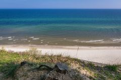 Northernmost point of Poland. Baltic Sea seen from cliff in Jastrzebia Gora village, Poland Stock Photos
