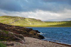 The northernmost seashore of Norway in summer Royalty Free Stock Image