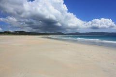 Northland Beach. Glorious golden sand beach in Northland New Zealand Stock Photos