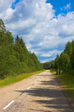 Northland country landscape. North land country landscape in Russia Royalty Free Stock Image