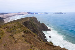 Northland sand beach near Cape Reinga New Zealand Royalty Free Stock Photos