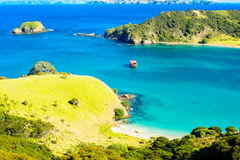Northland. View of the ocean shore at the east side of Northland, North Island, New Zealand Royalty Free Stock Images