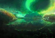 Northrend Aurora Borealis Stock Image