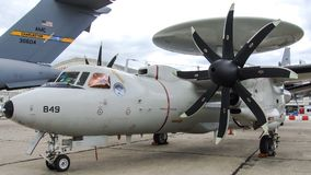 Northrop Grumman E-2D Hawkeye a Le Bourge Immagini Stock