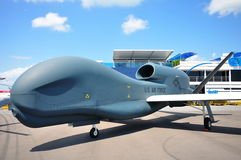 Northrop Grumman RQ-4 Global Hawk UAV at airshow Royalty Free Stock Photography
