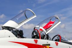 Northrop T-38 szpon w Teknofest Istanbuł obrazy royalty free