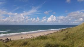 Northsea on Sylt. The beach in Wennigstedt on Sylt royalty free stock photography