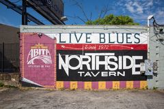 Northside Tavern, Atlanta Dive Bar. The Northside Tavern, a blues bar located in West Midtown Atlanta, near the Georgia Tech Campus. The bar has been voted top royalty free stock photography