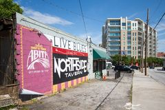 Northside tawerna, Atlanta nura bar Zdjęcia Stock