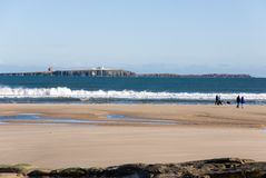 Northumberland coastline. The most northerly county. England Royalty Free Stock Photo