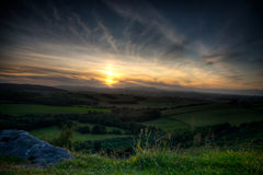 Northumberland Sunset. Beautiful sunset over Northumberland, UK Stock Photos
