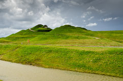 Northumberlandia near completion Royalty Free Stock Photos