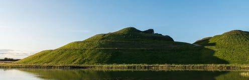 Northumberlandia som är panorama- i färg royaltyfri fotografi
