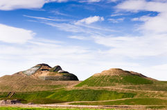 Northumberlandia under construction Stock Image