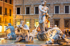 Northward view of the Piazza Navona with the fontana del Moro Royalty Free Stock Images