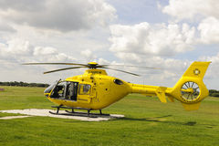Northwest air ambulance helicopter. At Manchester City Airport Royalty Free Stock Image