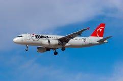 Northwest Airlines Airbus A320 Fotografia de Stock